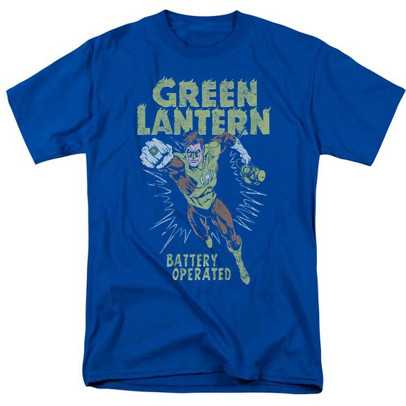 Green Lantern Fully Charged Short Sleeve Adult Royal Blue T-Shirt