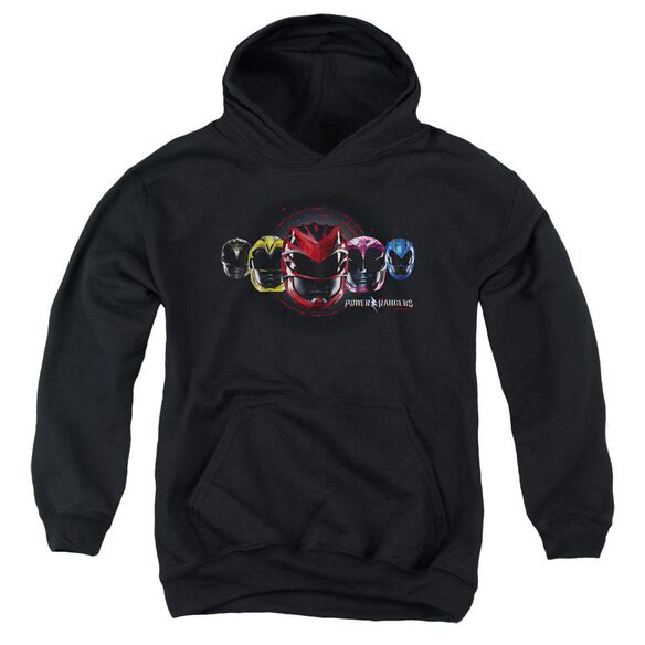 Power Rangers Head Group Youth Pull Over Hoodie