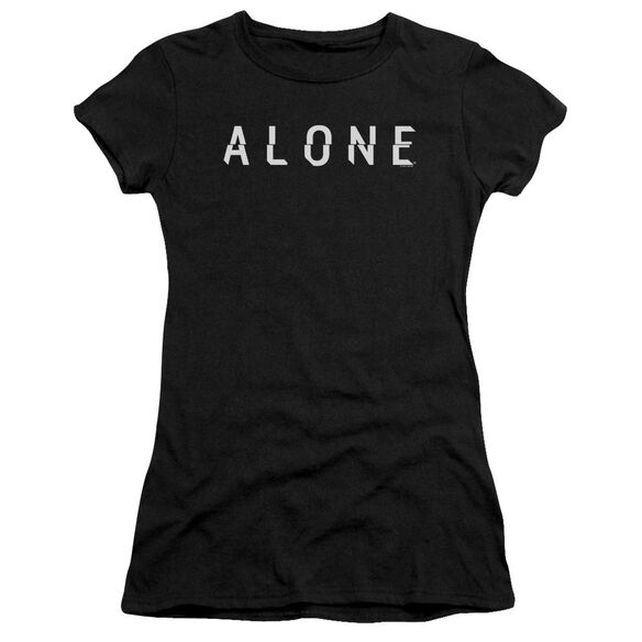 Alone Alone Logo Hbo Short Sleeve Junior Sheer T-Shirt
