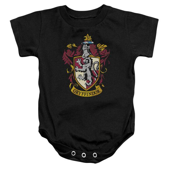 Harry Potter Gryffindor Crest Infant Snapsuit Black