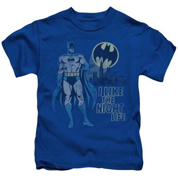 Dc Night Life Short Sleeve Juvenile Royal Blue T-Shirt