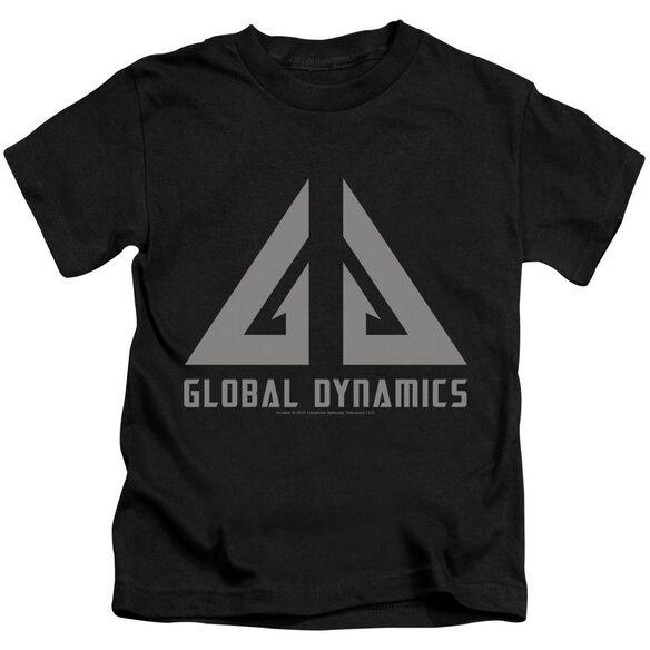 Eureka Global Dynamics Logo Short Sleeve Juvenile Black Black T-Shirt