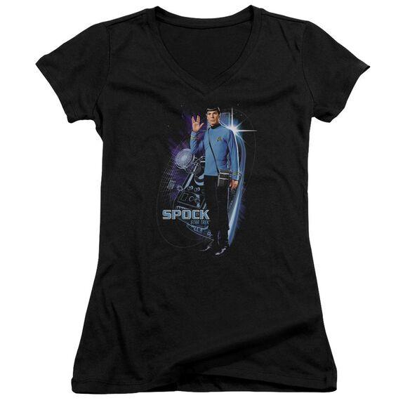 Star Trek Galactic Spock Junior V Neck T-Shirt