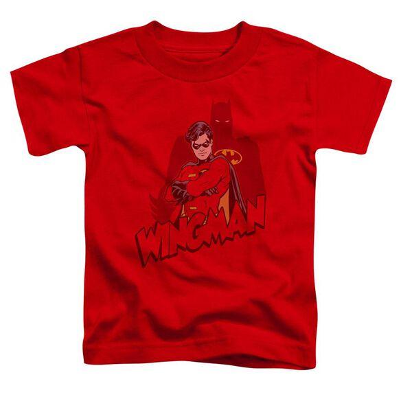 Batman Wingman Short Sleeve Toddler Tee Red Lg T-Shirt