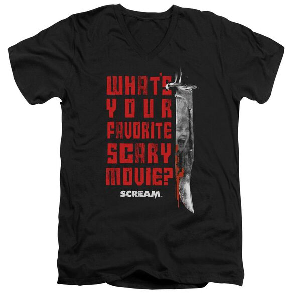 Scream Favorite Short Sleeve Adult V Neck T-Shirt