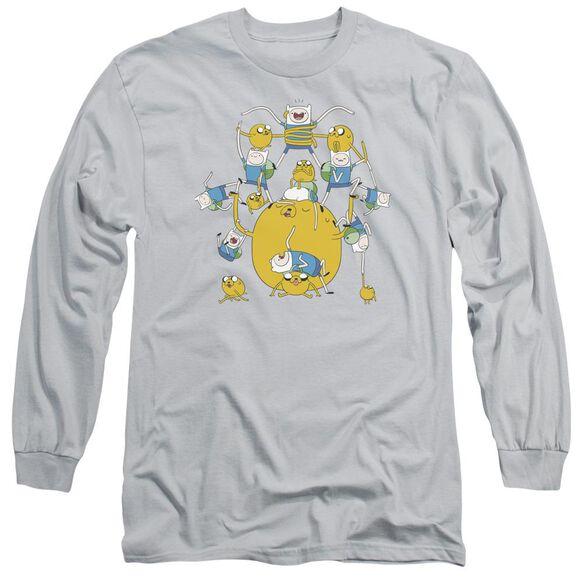 Adventure Time Finn&Jake Group Long Sleeve Adult T-Shirt
