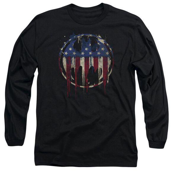 Batman Bleeding Signal Long Sleeve Adult T-Shirt