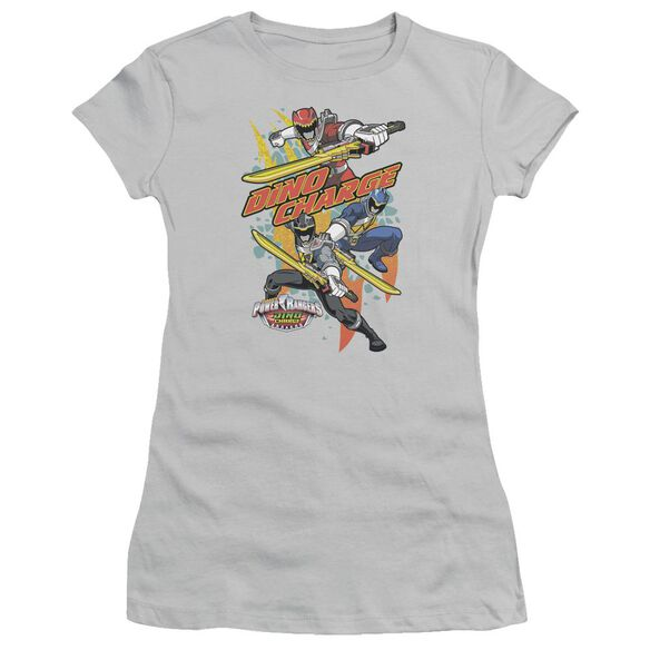 Power Rangers Swords Out Short Sleeve Junior Sheer T-Shirt
