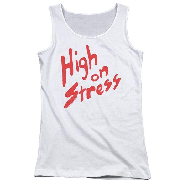 Revenge Of The Nerds High On Stress Juniors Tank Top