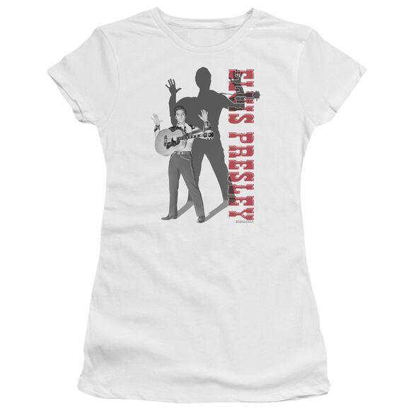 Elvis Look No Hands Short Sleeve Junior Sheer T-Shirt