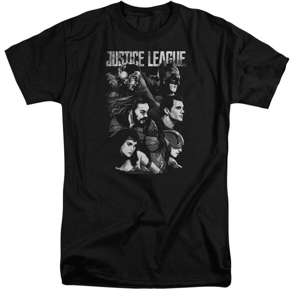 Justice League Movie Pushing Forward Short Sleeve Adult Tall T-Shirt