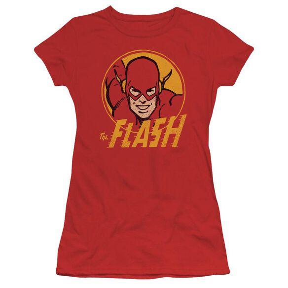 Dc Flash Flash Circle Short Sleeve Junior Sheer T-Shirt