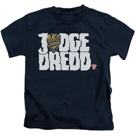 Judge Dredd Logo Short Sleeve Juvenile Navy T-Shirt