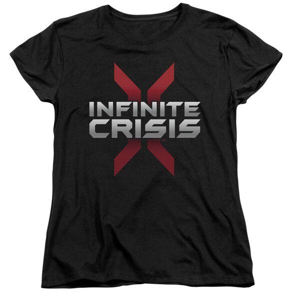Infinite Crisis Logo Short Sleeve Womens Tee T-Shirt