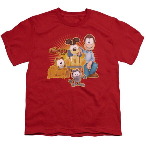 Garfield Say Cheese Short Sleeve Youth T-Shirt