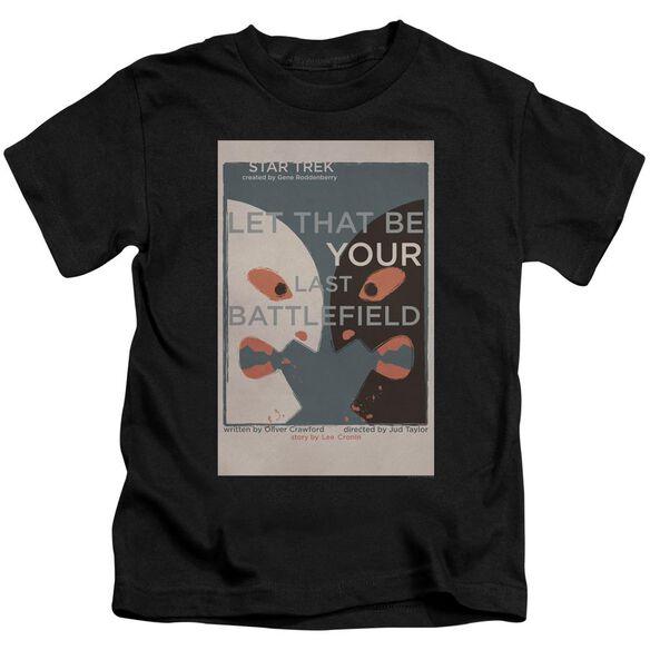 Star Trek Tos Episode 70 Short Sleeve Juvenile Black T-Shirt