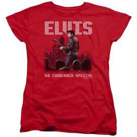 ELVIS PRESLEY RETURN OF THE KING - S/S WOMENS TEE - RED T-Shirt