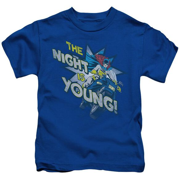 Dc The Night Is Young Short Sleeve Juvenile Royal Blue Md T-Shirt