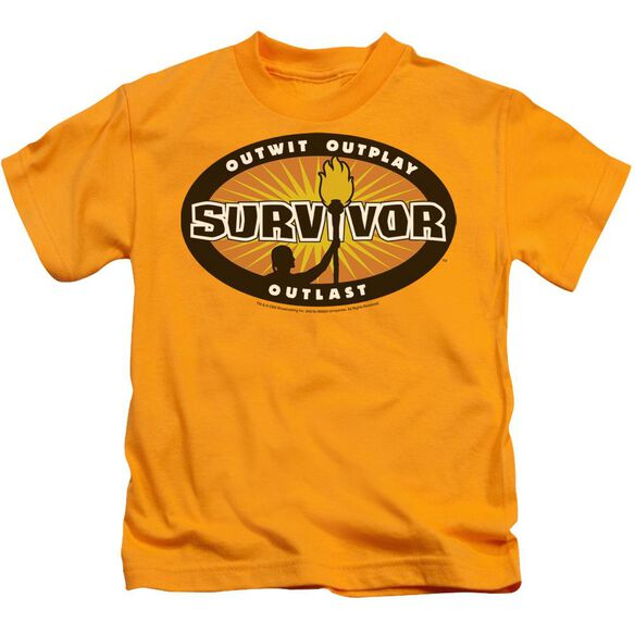 Survivor Gold Burst Short Sleeve Juvenile Gold T-Shirt