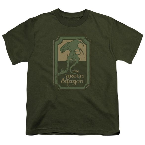 Lord Of The Rings Dragon Tavern Short Sleeve Youth Military T-Shirt