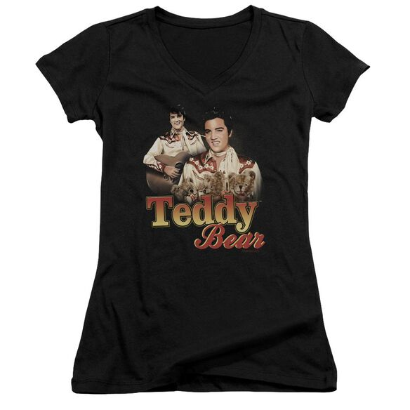 Elvis Teddy Bear Junior V Neck T-Shirt