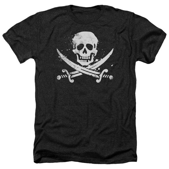 Distressed Jolly Roger Adult Heather