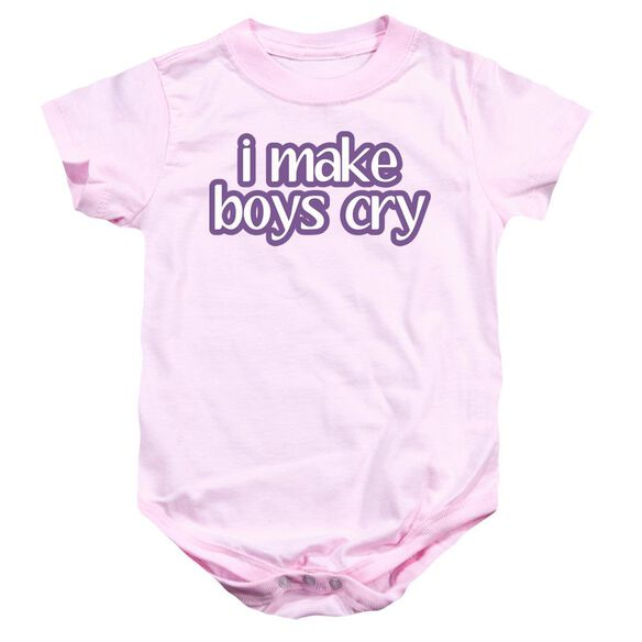 I Make Boys Cry Infant Snapsuit Pink Md