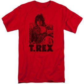 T Rex Lounging Short Sleeve Adult Tall T-Shirt