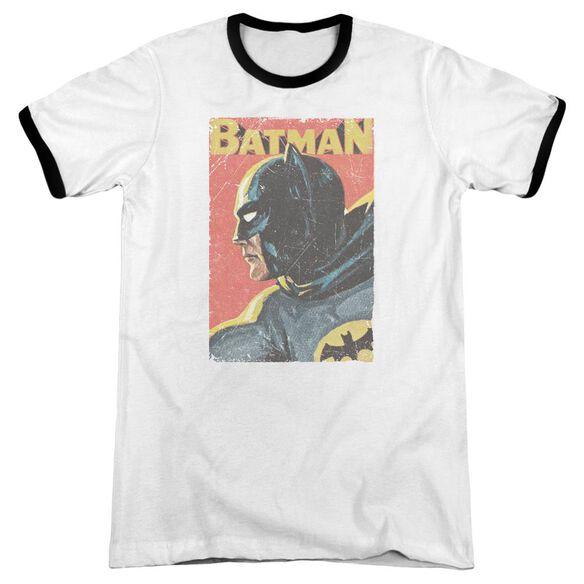 Batman Classic Tv Vintman Adult Ringer White Black