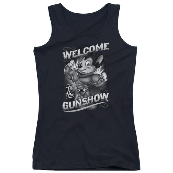 Mighty Mouse Mighty Gunshow Juniors Tank Top