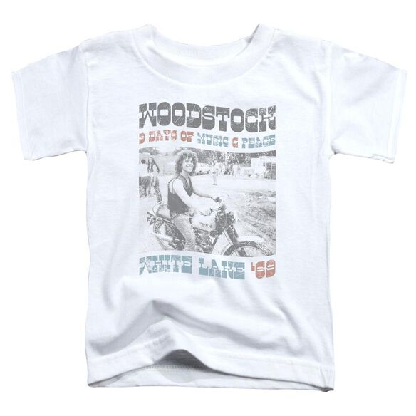 Woodstock Rider Short Sleeve Toddler Tee White T-Shirt