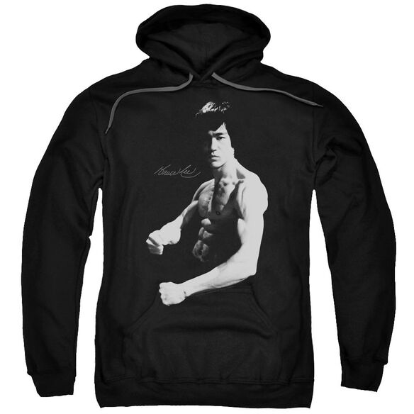 Bruce Lee Stance Adult Pull Over Hoodie