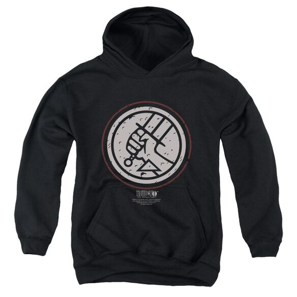 Hellboy Ii Mignola Style Logo Youth Pull Over Hoodie