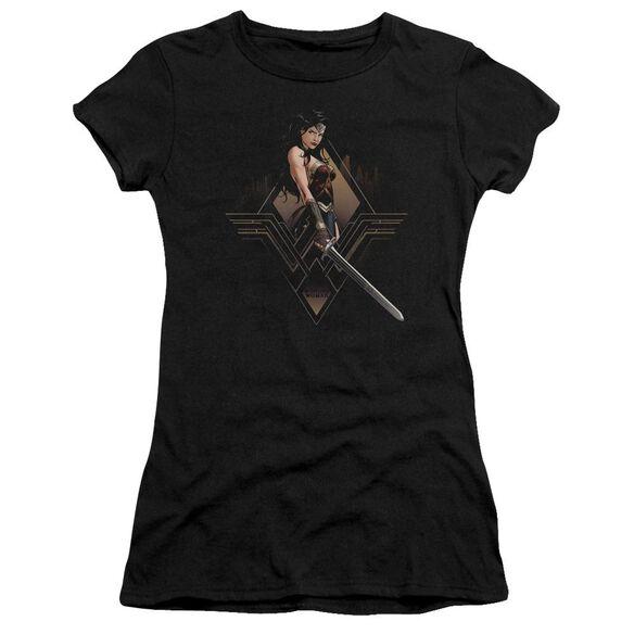 Batman V Superman City Girl Short Sleeve Junior Sheer T-Shirt