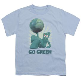 Gumby Go Green Short Sleeve Youth Light T-Shirt