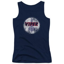 Bsg War Torn Viper Logo Juniors Tank Top
