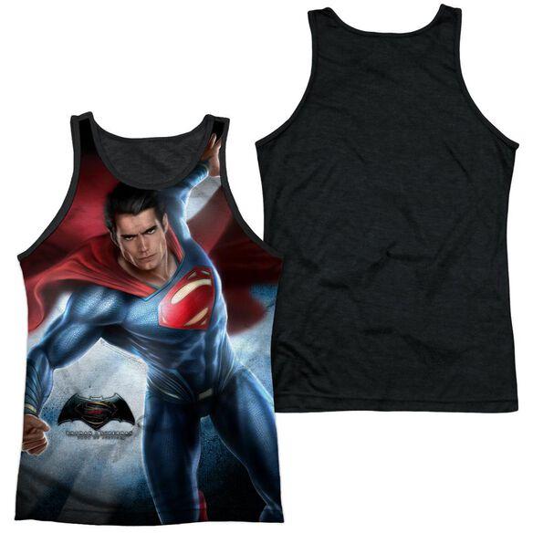 Batman V Superman Superman Light Adult Poly Tank Top Black Back