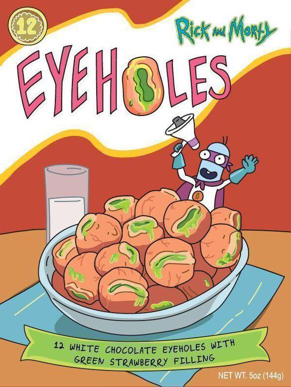 Rick and Morty Eyehole Chocolate Truffles