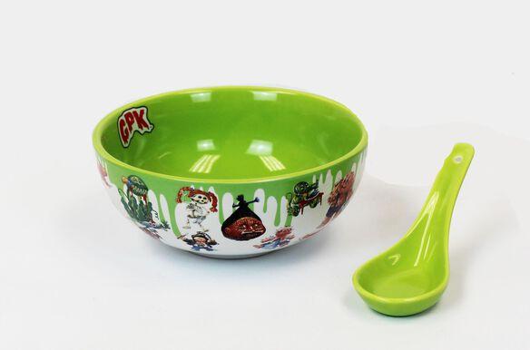 Garbage Pail Kids Ceramic Bowl with Spoon