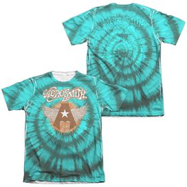 Aerosmith Tie Dye (Front Back Print) Adult Poly Cotton Short Sleeve Tee T-Shirt