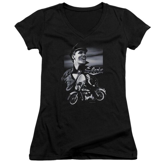 Elvis Motorcycle Junior V Neck T-Shirt
