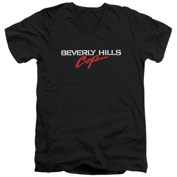 Beverly Hills Cop Logo Short Sleeve Adult V Neck T-Shirt