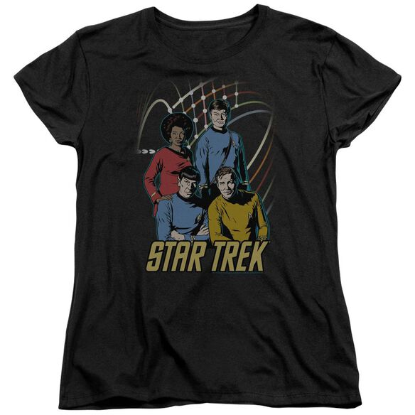 Star Trek Warp Factor 4 Short Sleeve Womens Tee T-Shirt