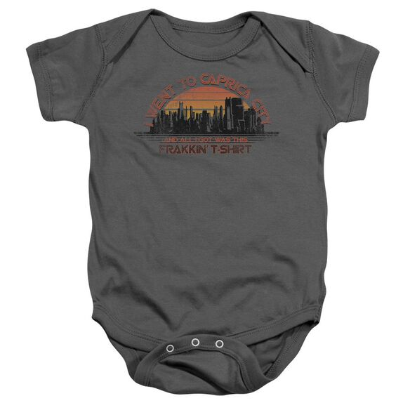 Bsg Caprica City Infant Snapsuit Charcoal Sm