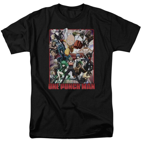 One Punch Man Cast Of Characters Short Sleeve Adult T-Shirt