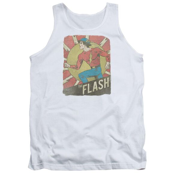 Dc Flash Tattered Poster Adult Tank