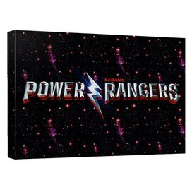 Power Rangers Movie Logo Canvas Wall Art With Back Board