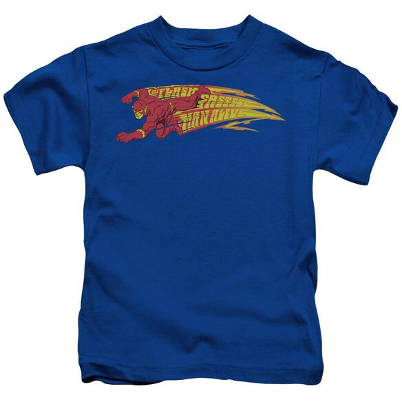 Dc Flash Fastest Man Alive Short Sleeve Juvenile Royal Blue T-Shirt