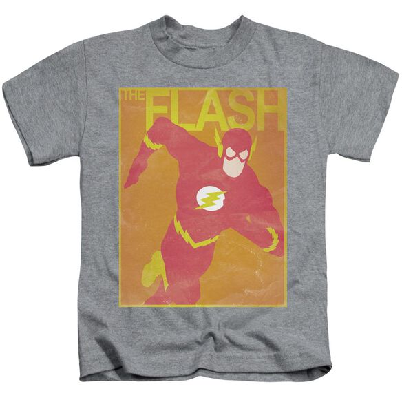 Jla Simple Flash Poster Short Sleeve Juvenile Athletic Heather T-Shirt