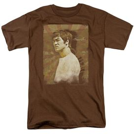 Bruce Lee Anger Short Sleeve Adult Coffee T-Shirt